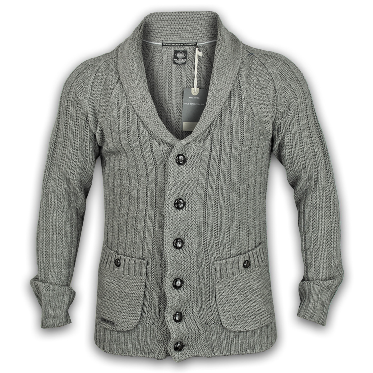 Mens Knitwear Top Cardigan Jumper Wool Mix Sweater Ambrose Button ...