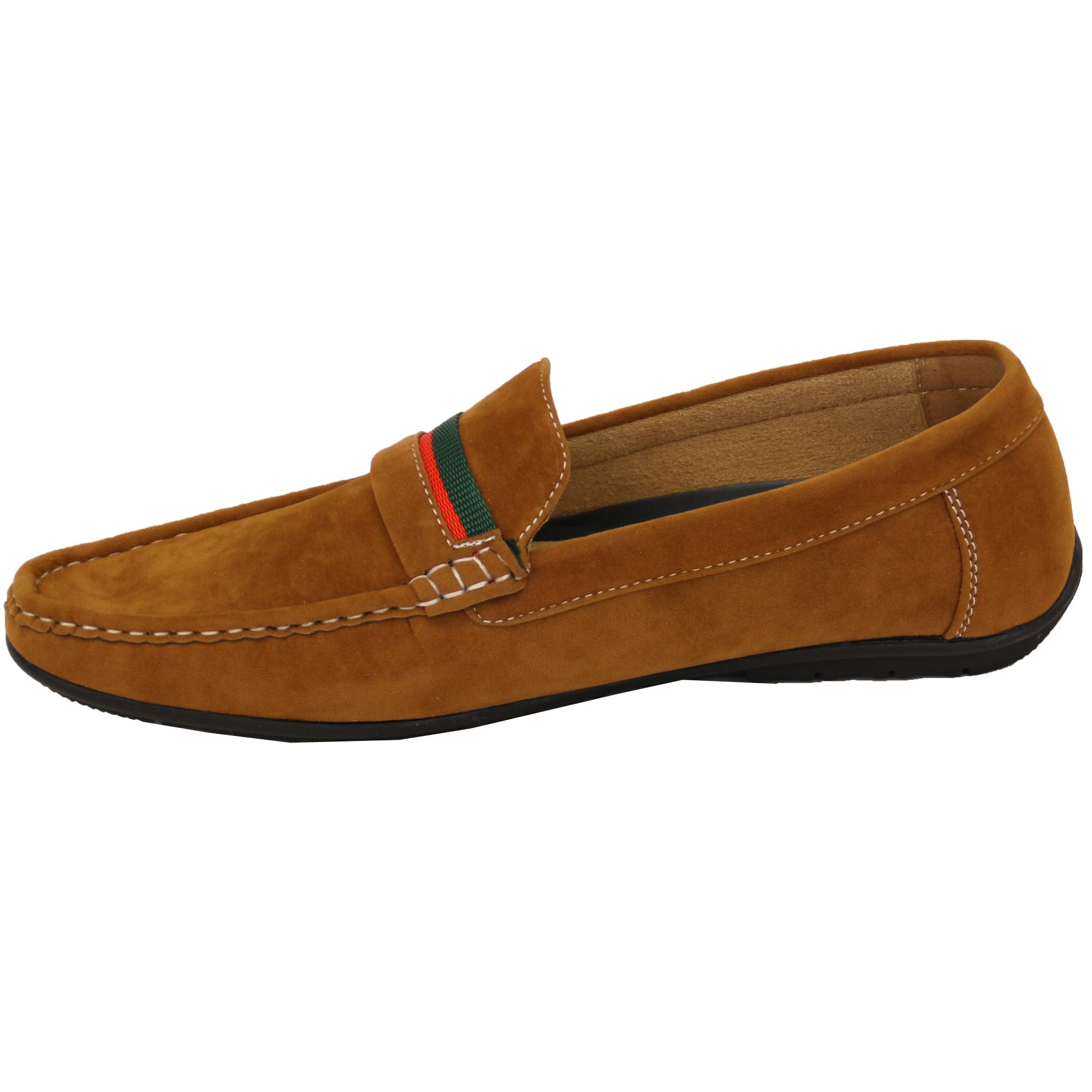 Mens Black Suede Moccasins Shoes