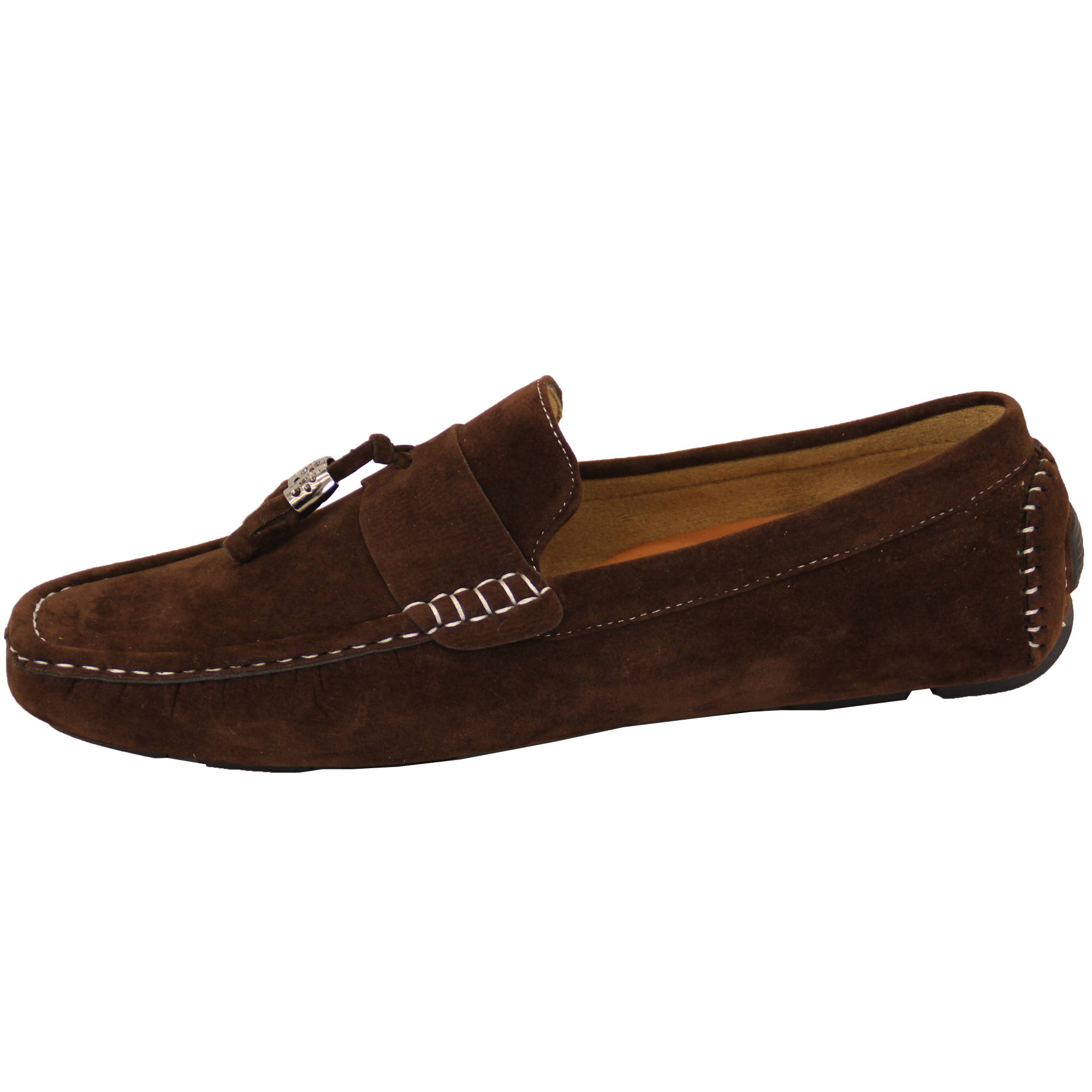 mens moccasins suede look shoes slip on boat driving