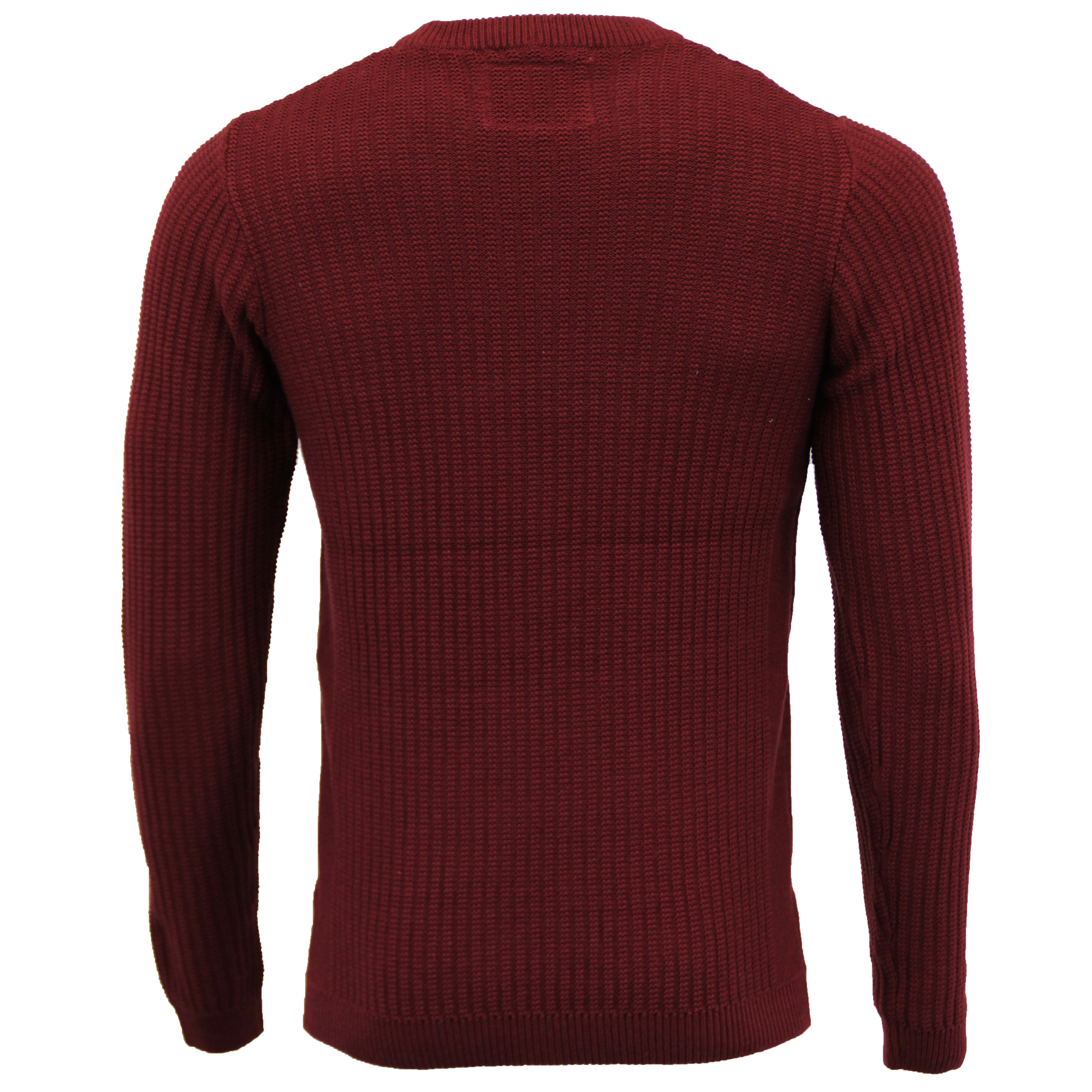 Mens Knitted Jumper Tokyo Laundry Ribbed Sweater Pullover Top Crew Neck Winter