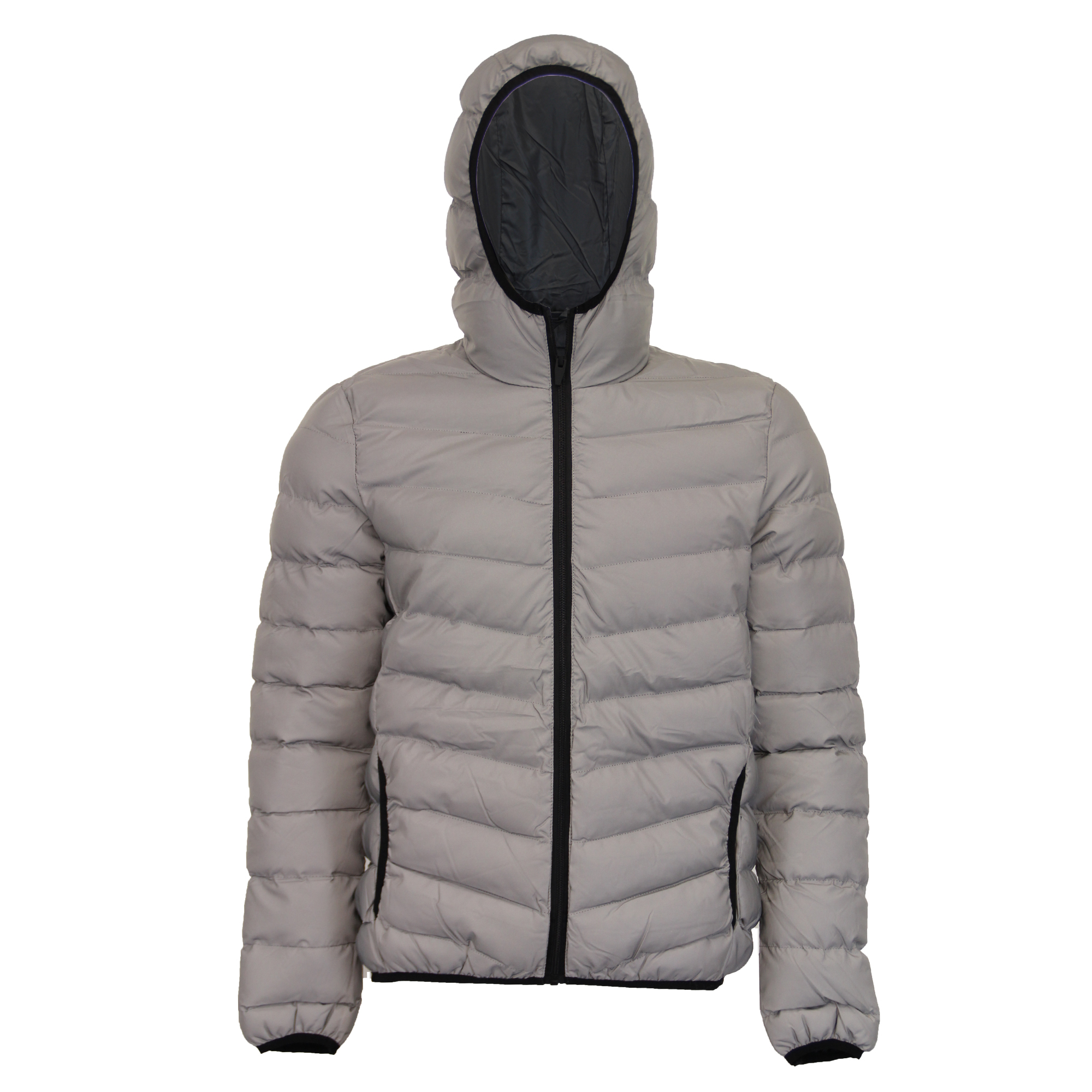 Mens Reflective Jacket Brave Soul Coat Padded Quilted ...