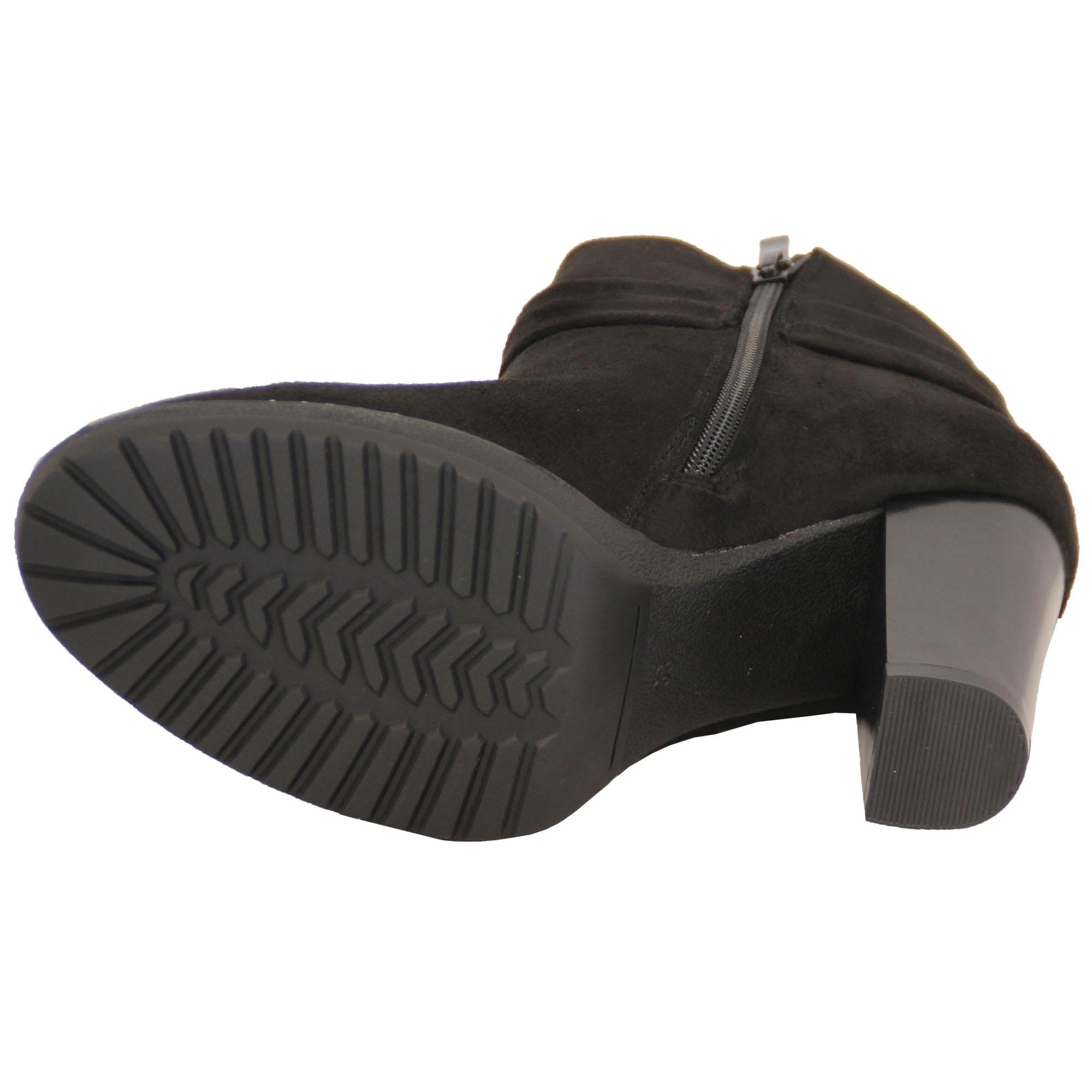 Damen Chelsea Biker Boots Damen Wildleder-Optik Schuhe block-plattform hoch
