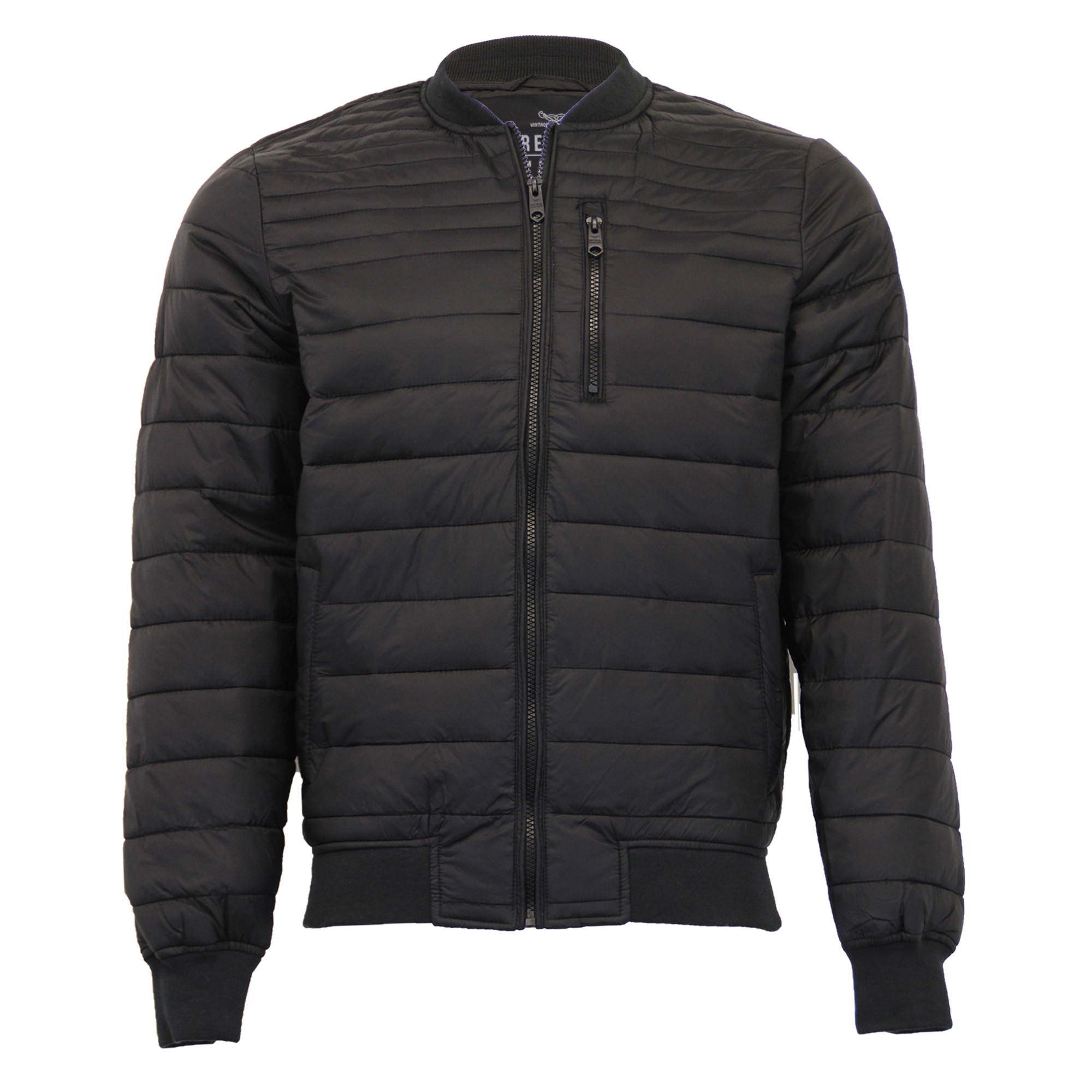 Mens Jacket Threadbare Bubble Coat Quilted Padded Bomber ...