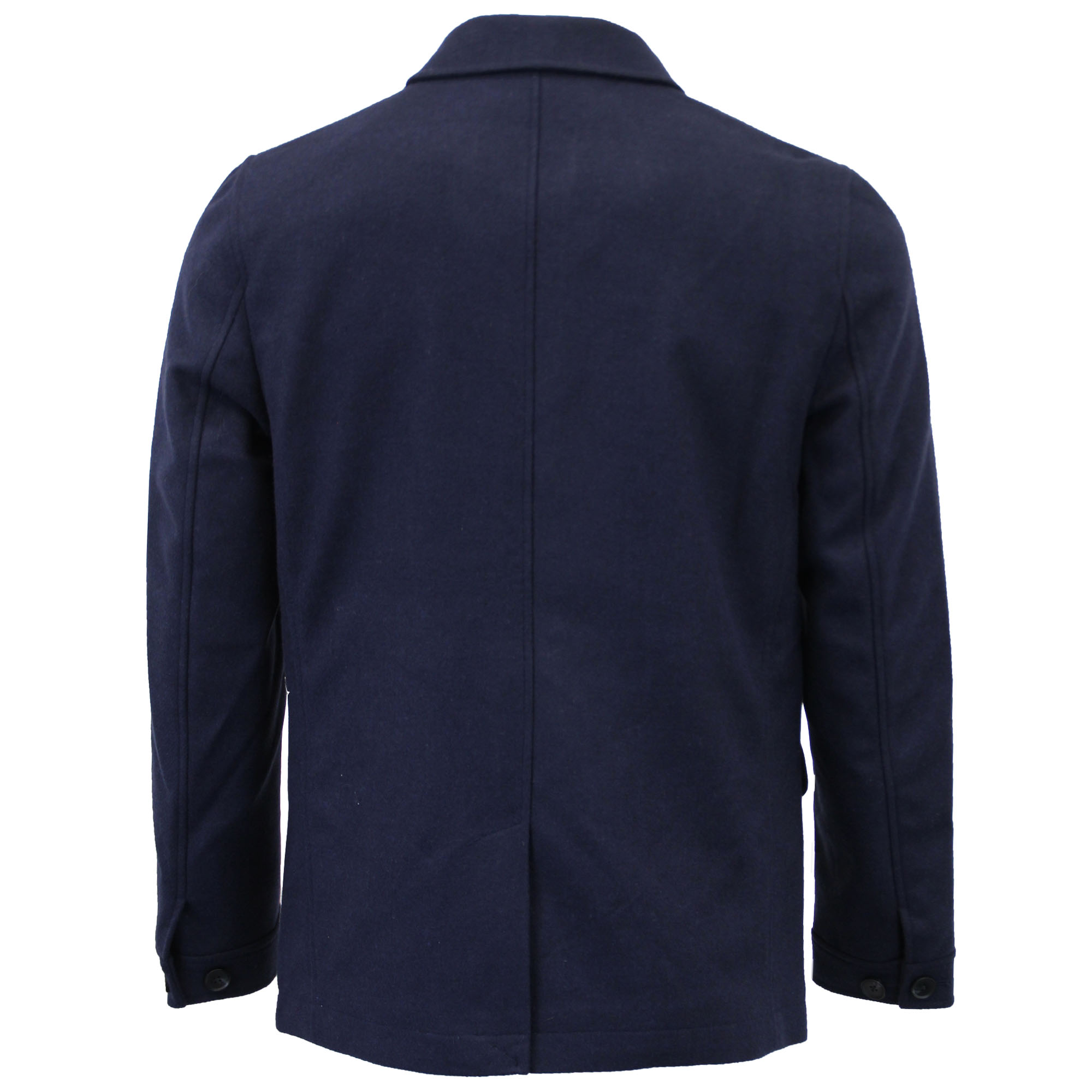 Mens Wool Mix Jacket Threadbare Coat Double Breasted Duffle Lined Winter New