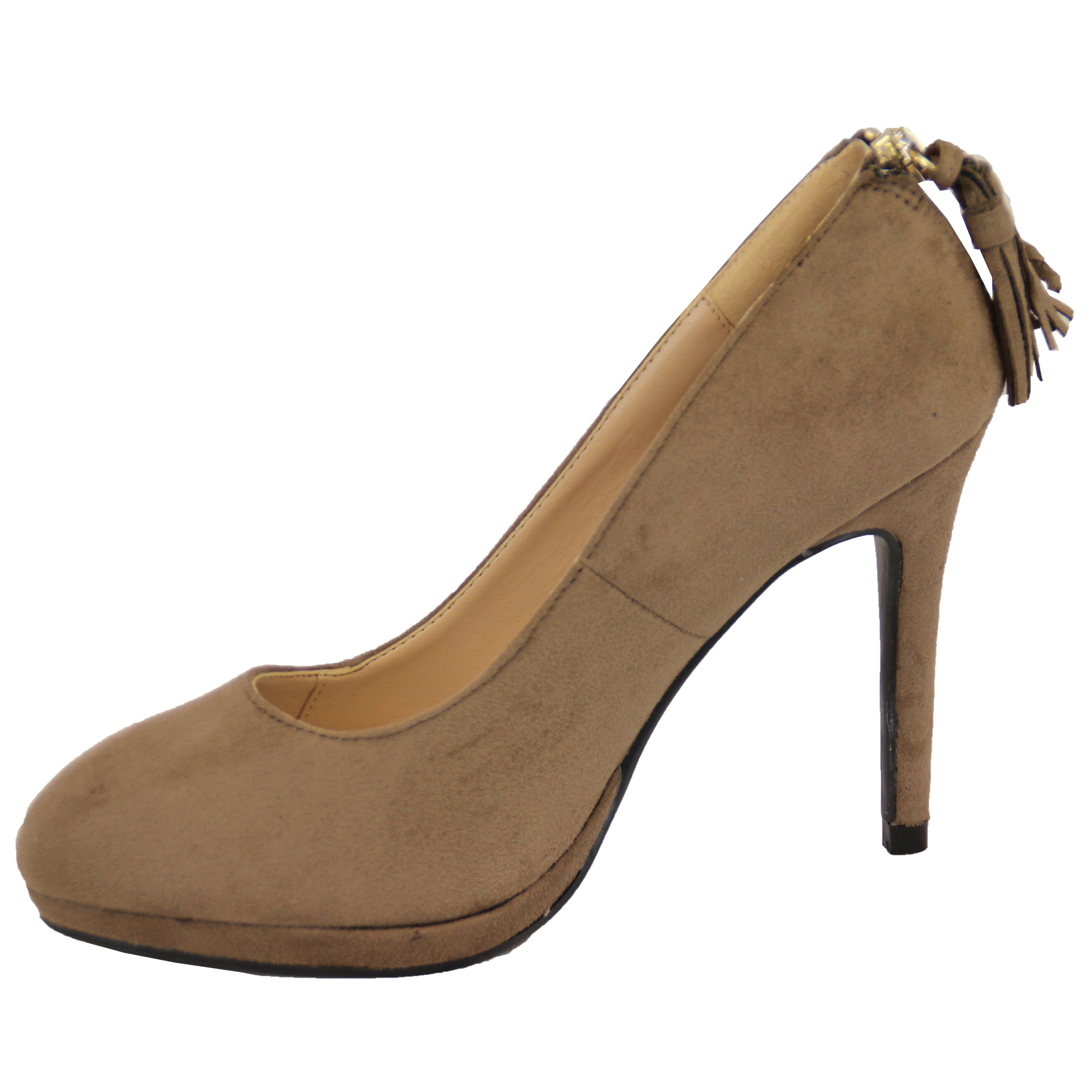 Ladies Suede Look Womens Stiletto Heel Slip On Shoes Wedding Fashion Casual New