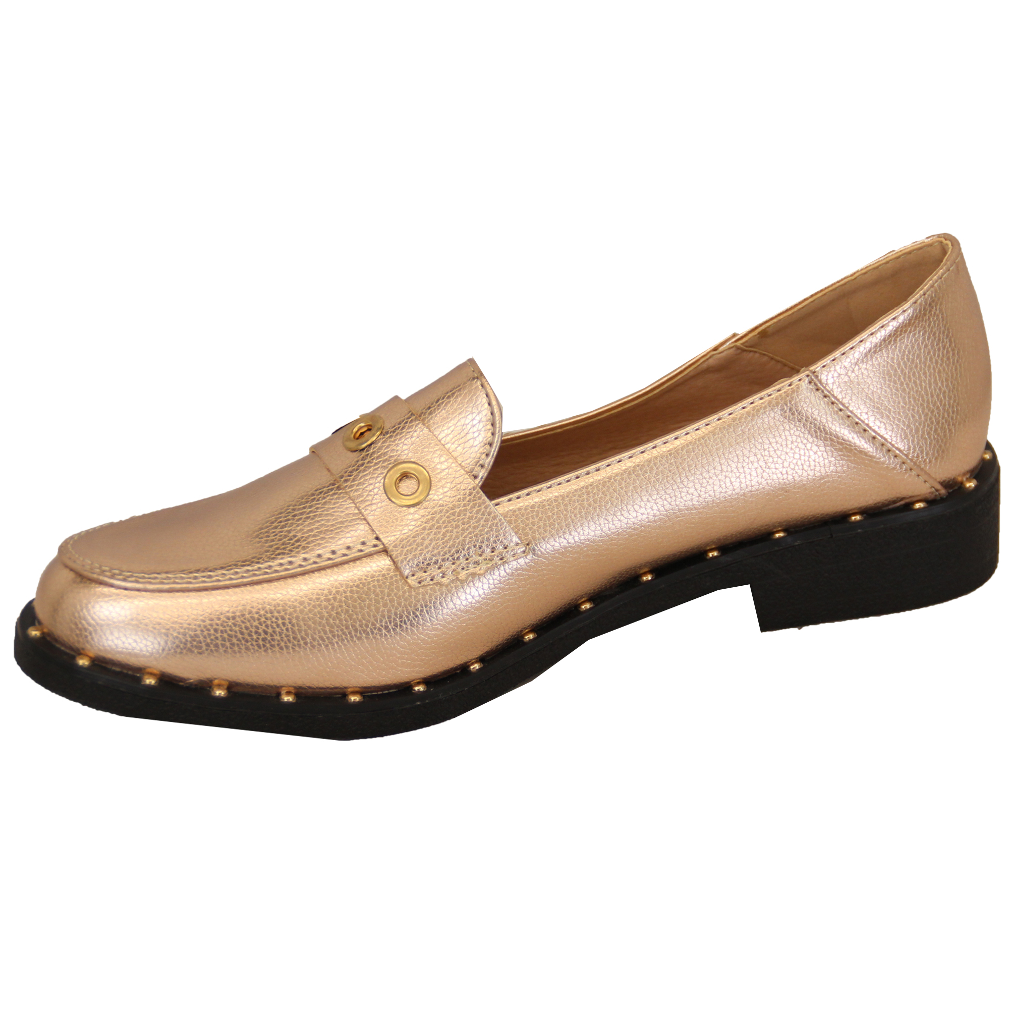 Ladies Slip On Shoes Womens Moccasins Vintage Studs Loafers Work Summer