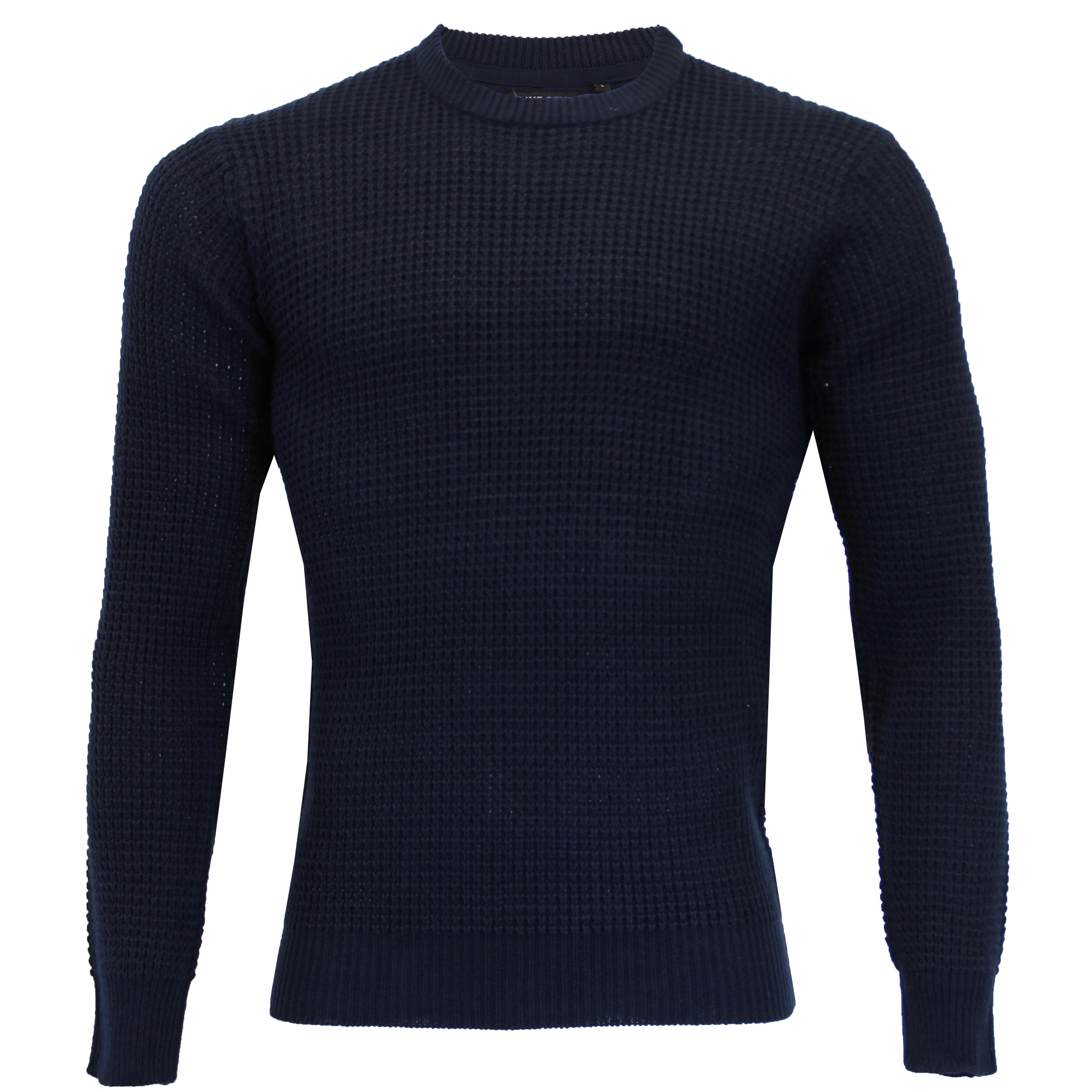 Mens Jumper Brave Soul Knitted Sweater Pullover Top Waffle Crew Neck SLOVAK New