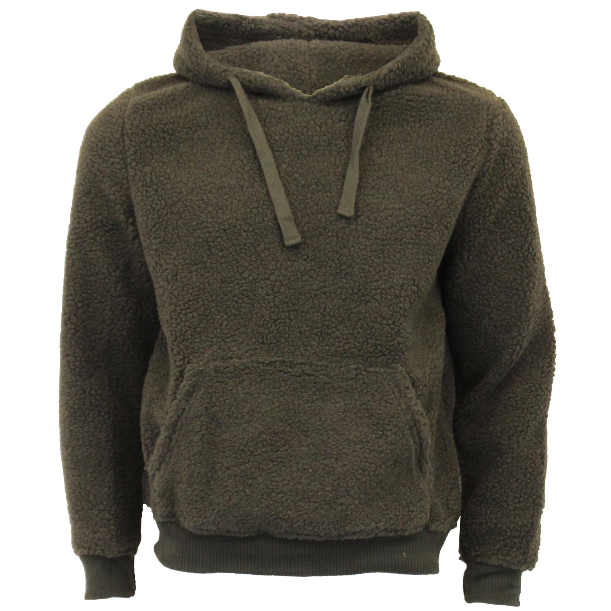 Mens Sherpa Fleece Borg Sweatshirt Brave Soul Over The Head  GROMIT Hooded Top