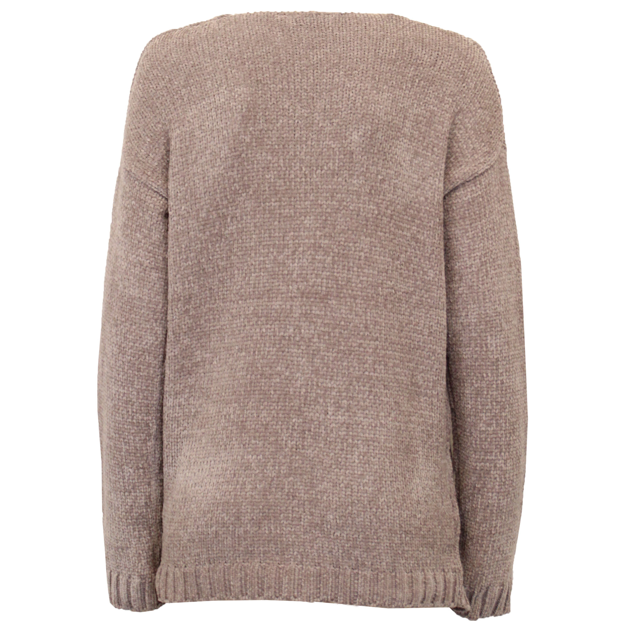 Ladies Chenille Jumper Brave Soul Womens Knitted TOTTY Deep V Neck Pullover New