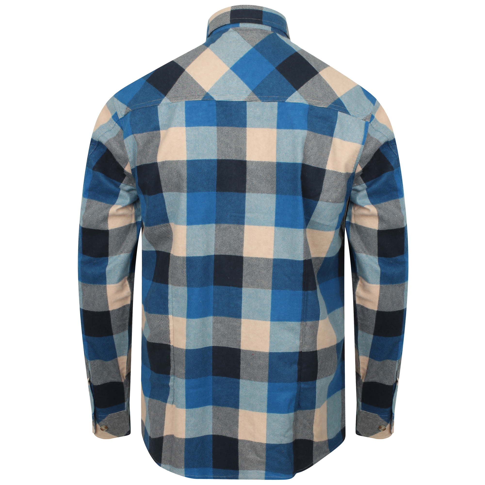 Mens Flannel Shirt Tokyo Laundry Cotton Tartan Checked Long Sleeves Collared New