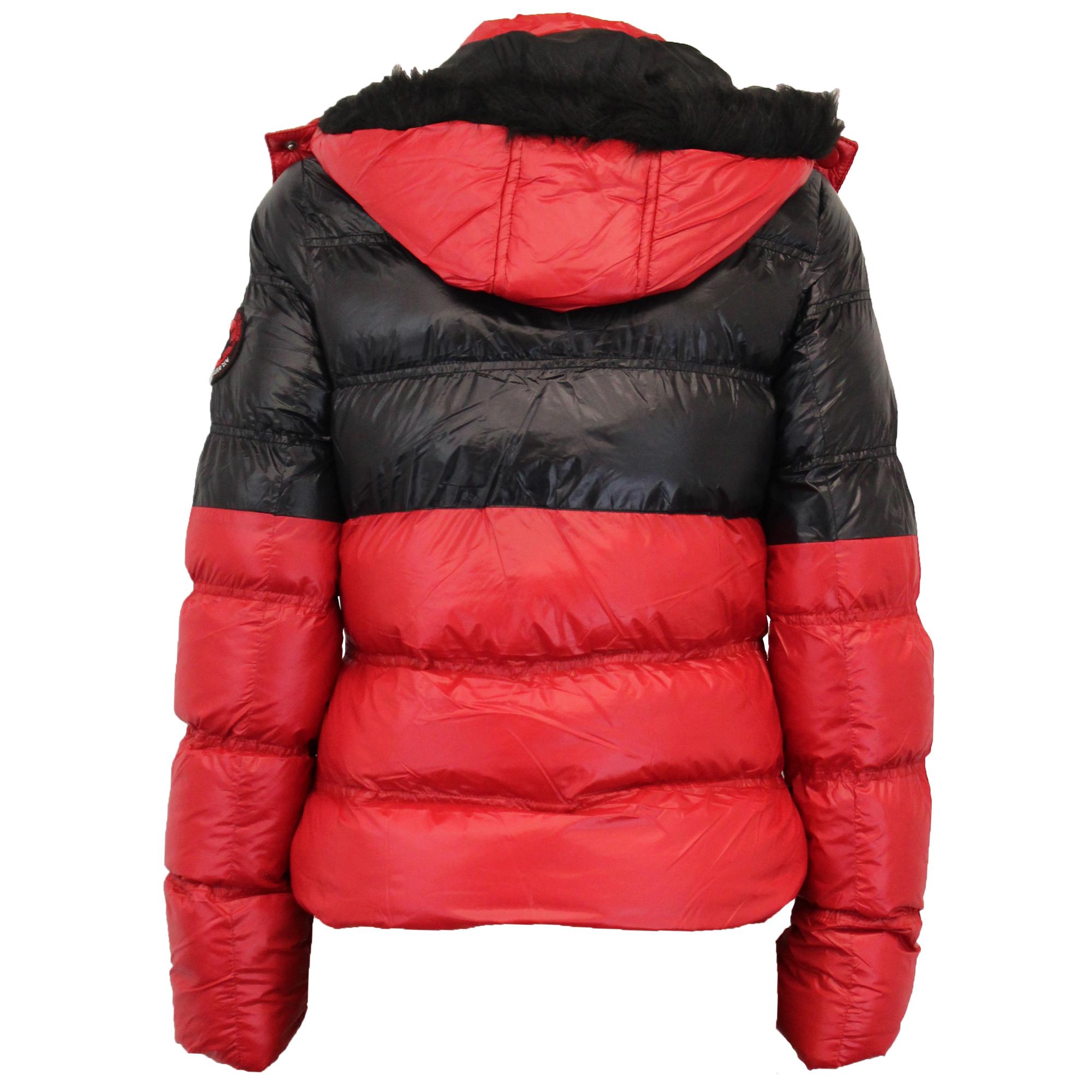 Ladies Short Bubble Jacket Brave Soul Womens Coat Padded Bomber Hoodie Fur New