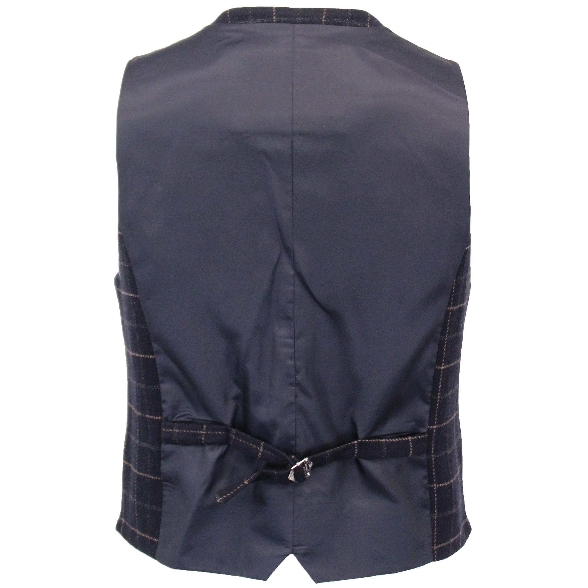 MIX di lana da uomo 3 PEZZI in Tweed Suit TRASMISSIONE controllato in pelle scamosciata Shelby NUOVO