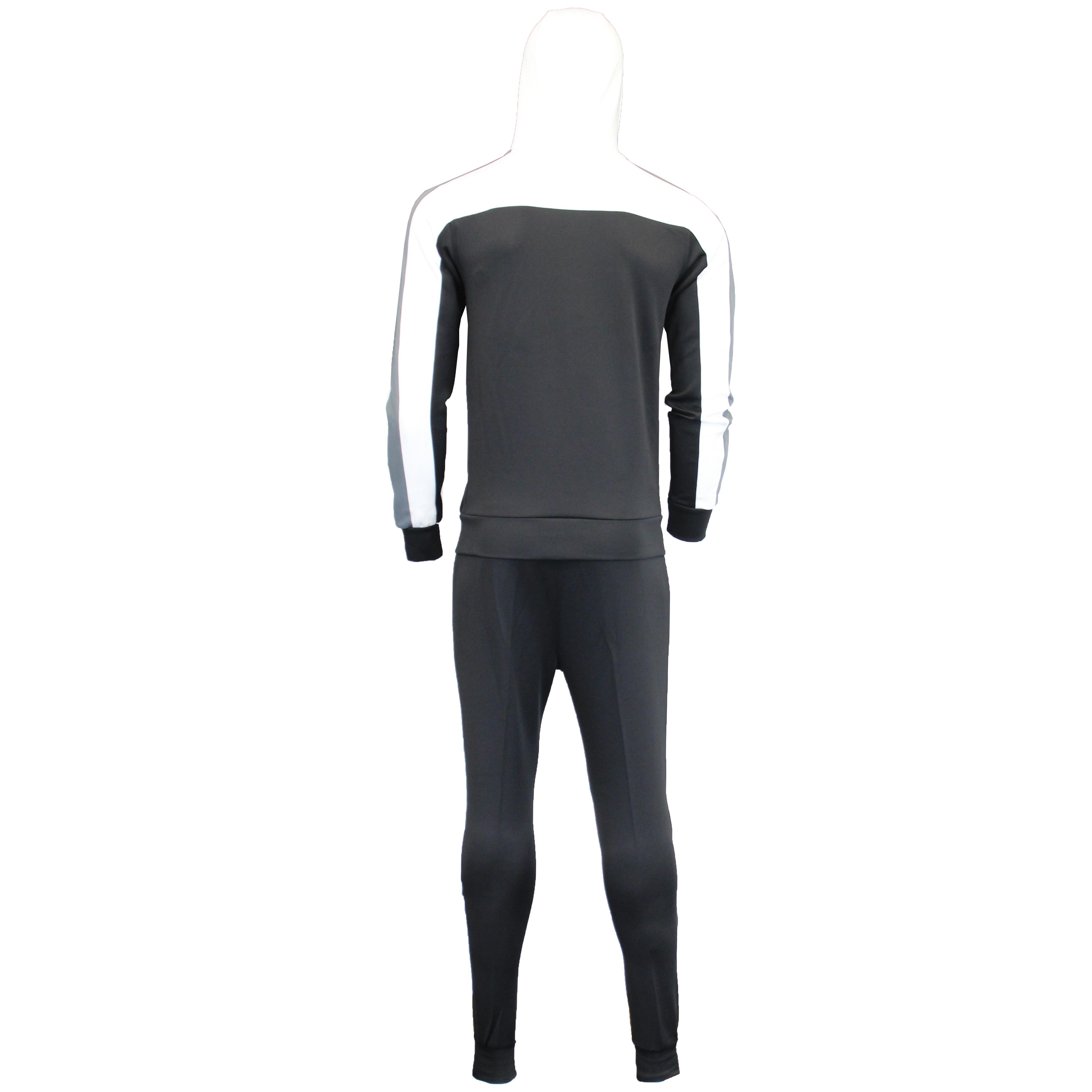Homme Rayure Survêtement Sweat Pantalon Haut à capuche garçon Cott Survêtement Fashion New