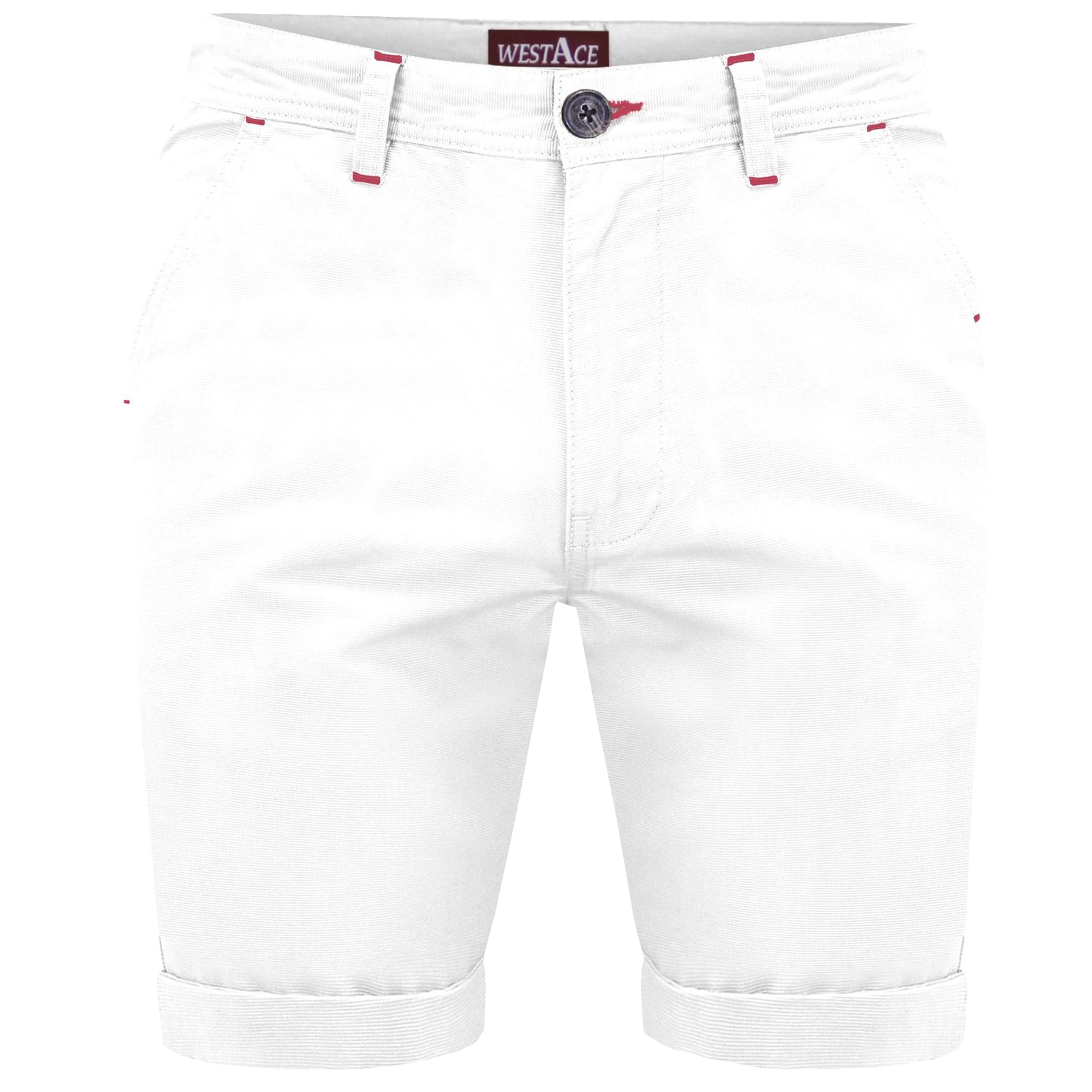 Mens Stretch Chino Shorts Westace Half Pants Knee Roll Up Sports Casual Summer