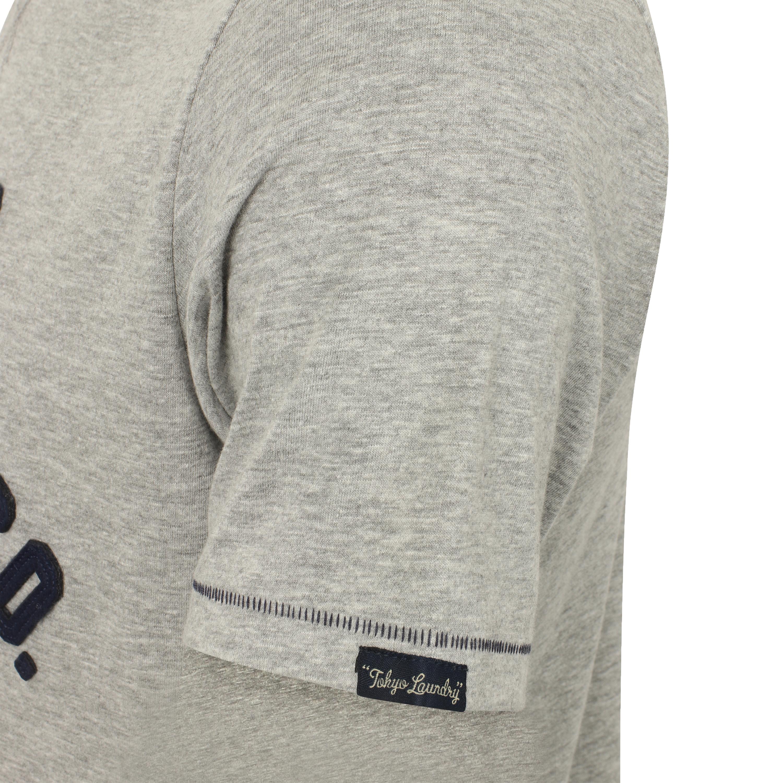 Mens T Shirt Tokyo Laundry Short Sleeved WILLAMBURG Applique Crew Neck OTHELLO