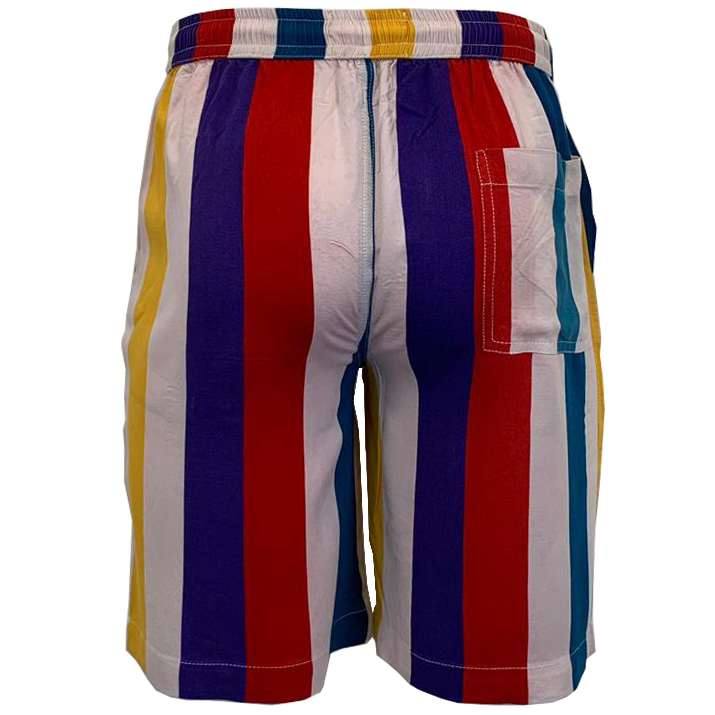 Mens Striped Pattern Drawstring Short /& Short Sleeve Shirt Brave Soul Set New