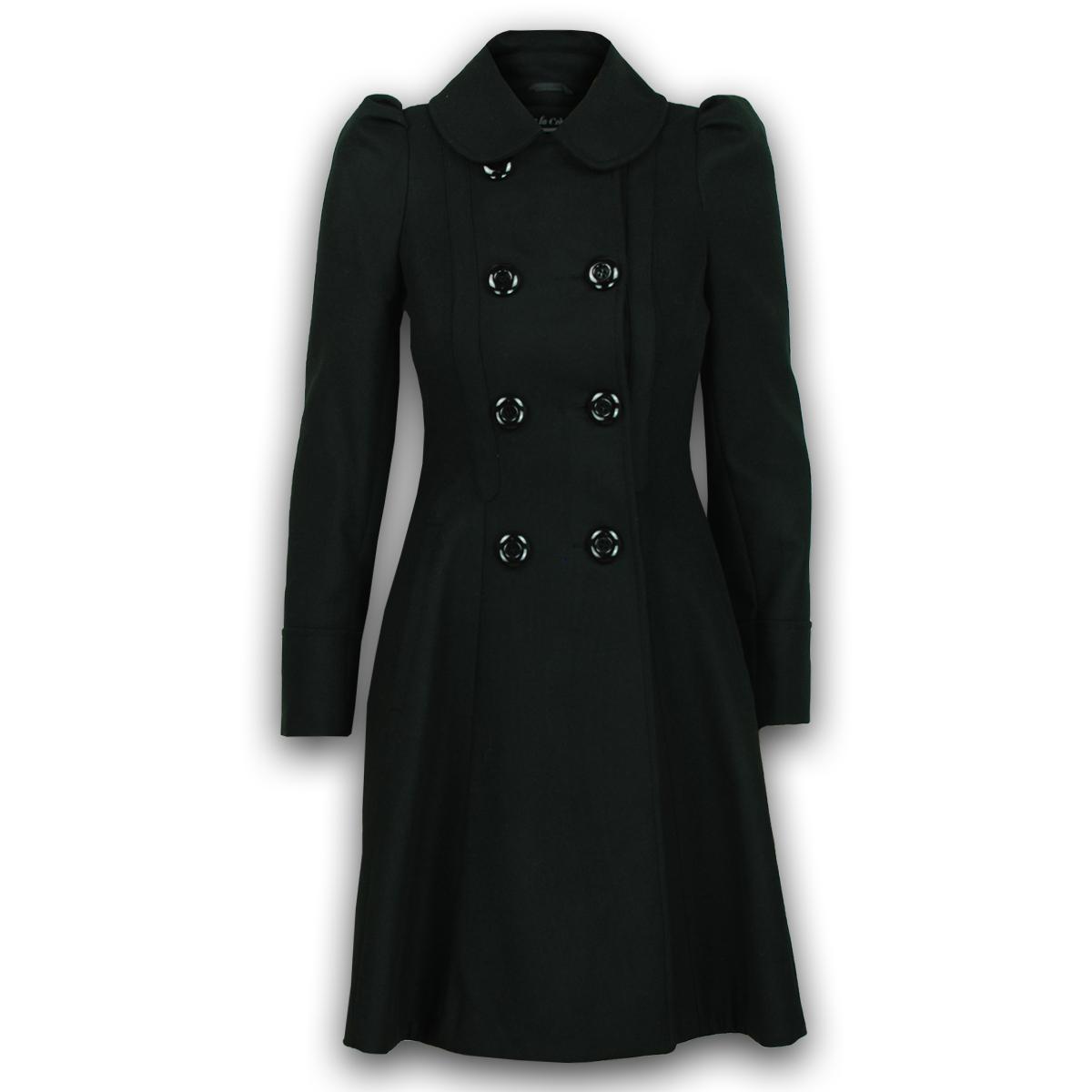 Mesdames manteau femme laine look bureau double boutonnage - Look bureau femme ...