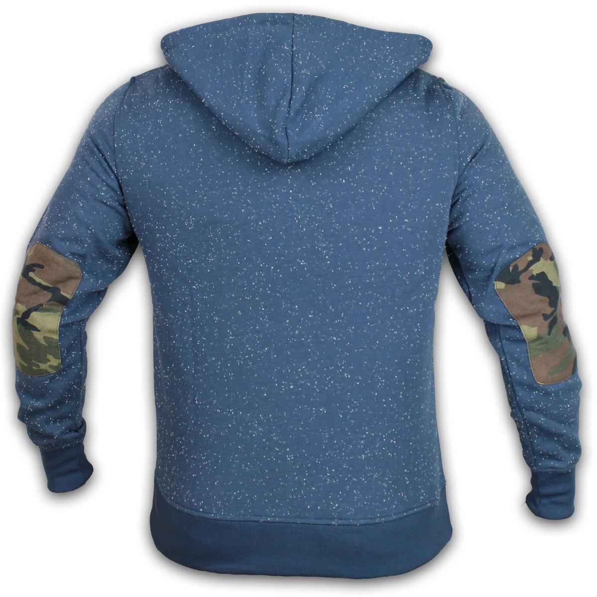 Boys Kangol Hoody Sweatshirt Camouflage Marl Patches Neppy Fleece Designer New