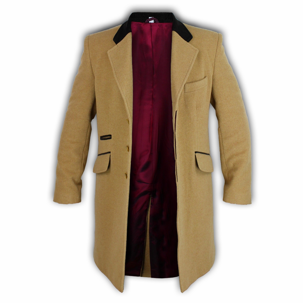 homme manteau veste en laine cachemire d contract outerwear pardessus trench doublure hiver ebay. Black Bedroom Furniture Sets. Home Design Ideas