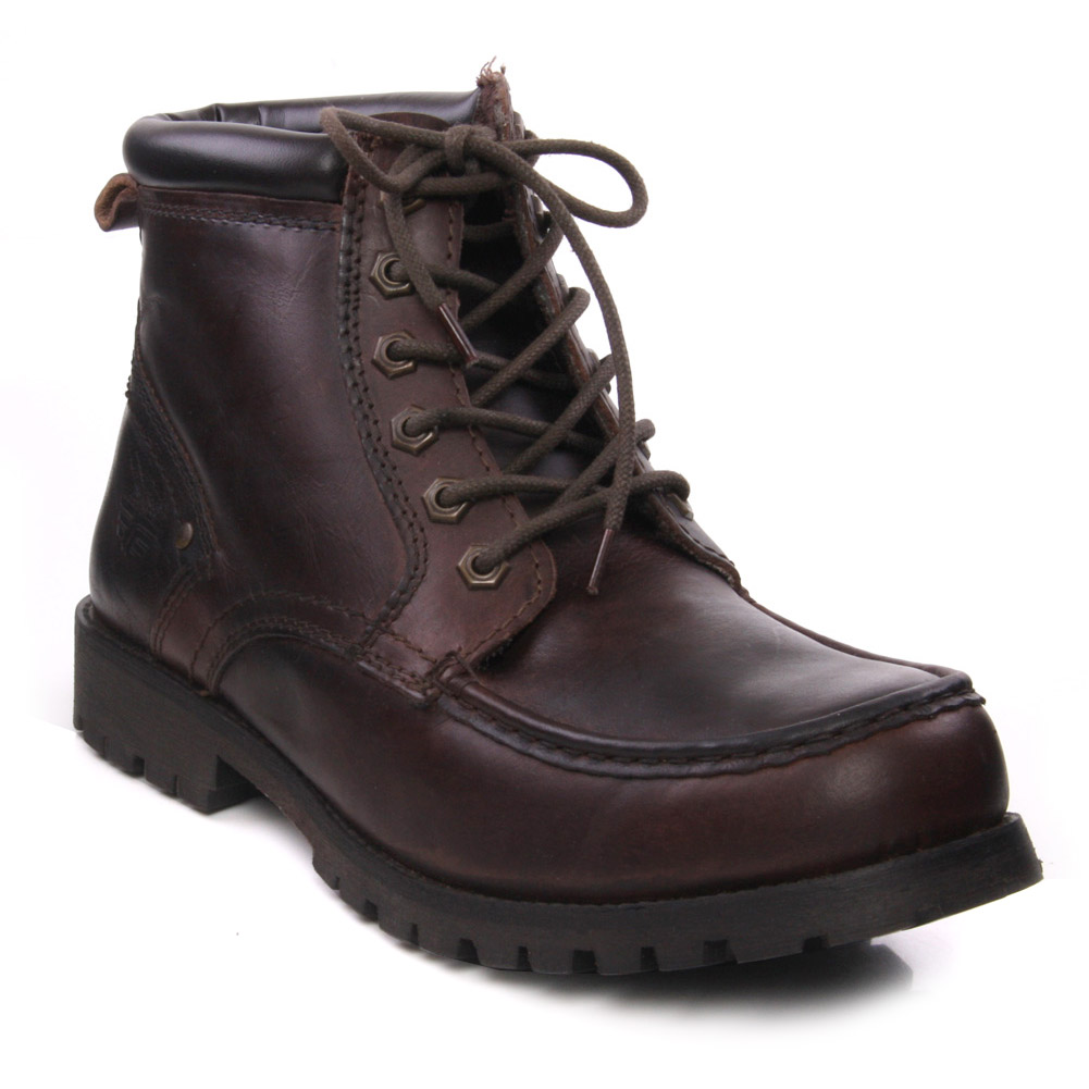 unze rani mens leather lace up ankle winter boots casual