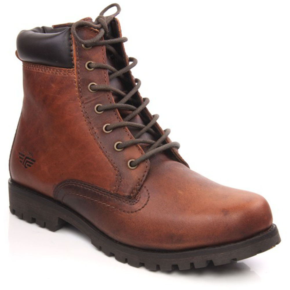 unze eloi mens casual leather lace up ankle boots size uk