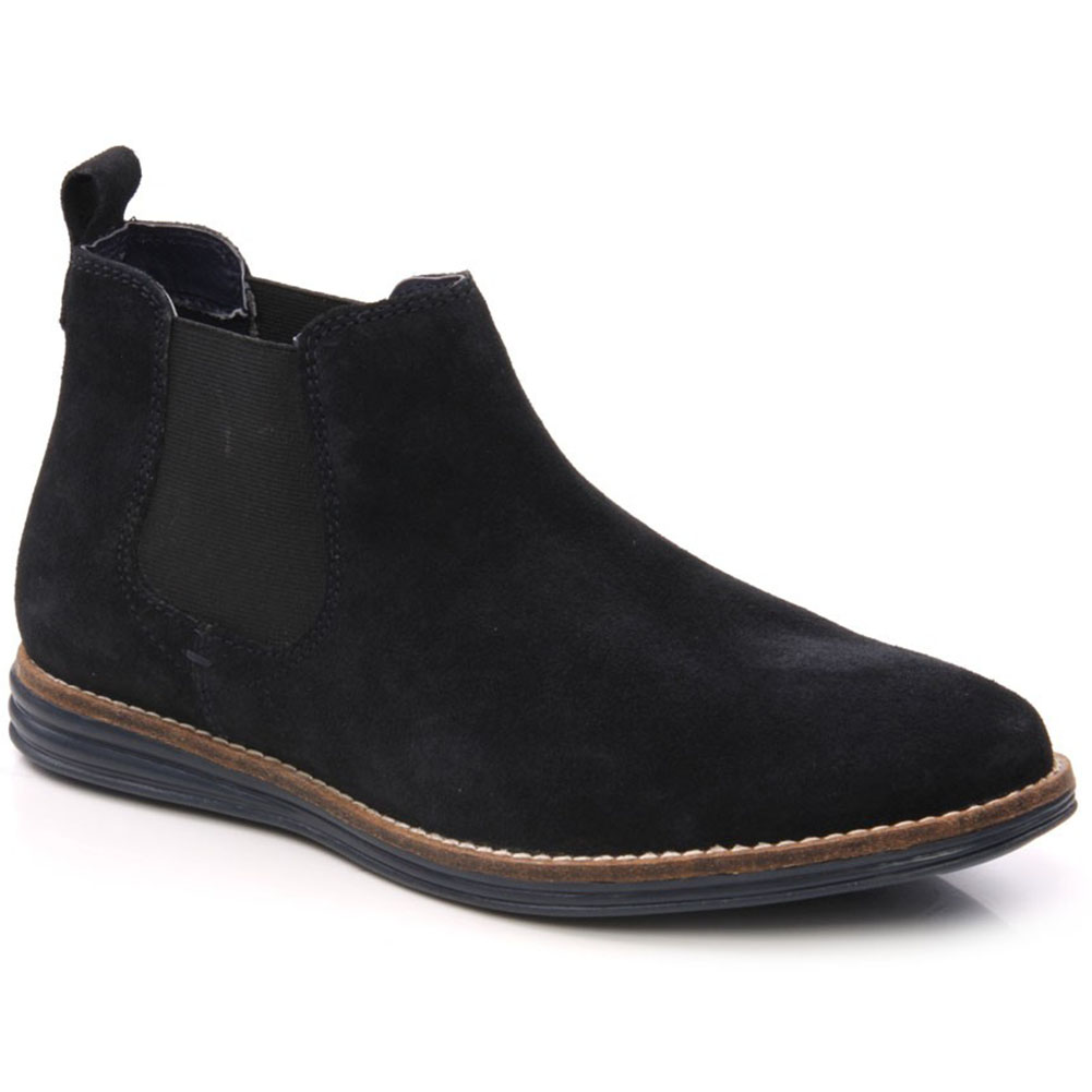 unze gs4669 mens casual suede leather chelsea boots size