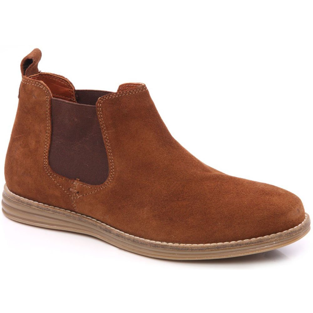 unze gs4670 mens casual suede leather chelsea boots size
