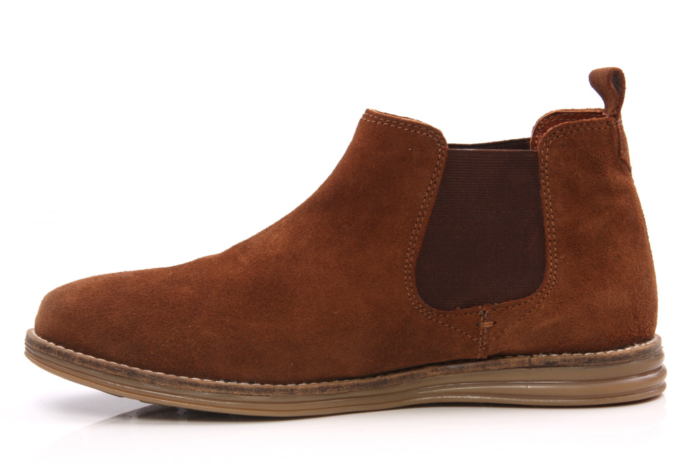 unze flor mens casual suede leather chelsea boots size uk