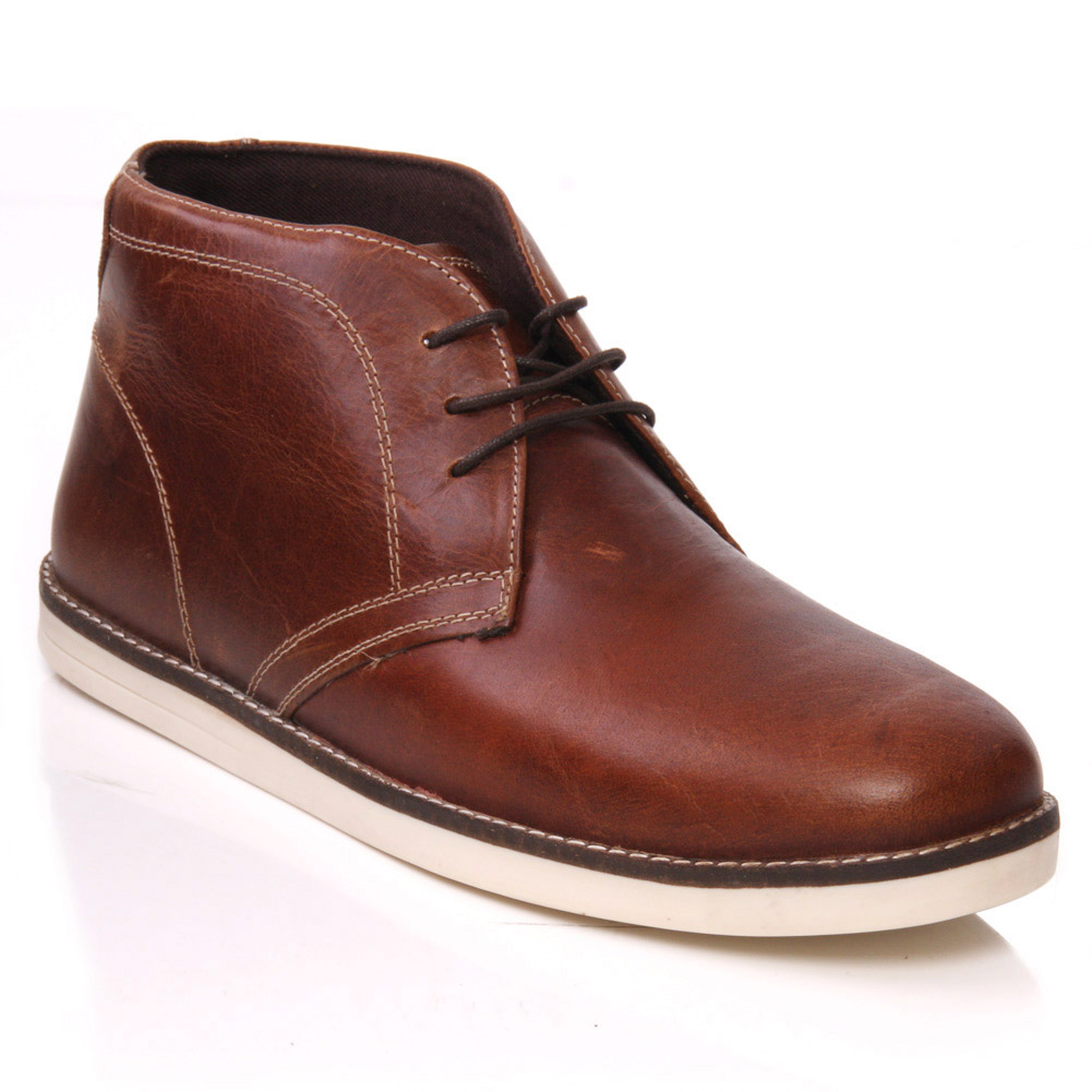 UNZE DARA' MENS LEATHER CASUAL CHUKKA LACE UP ANKLE BOOTS SIZE UK ...
