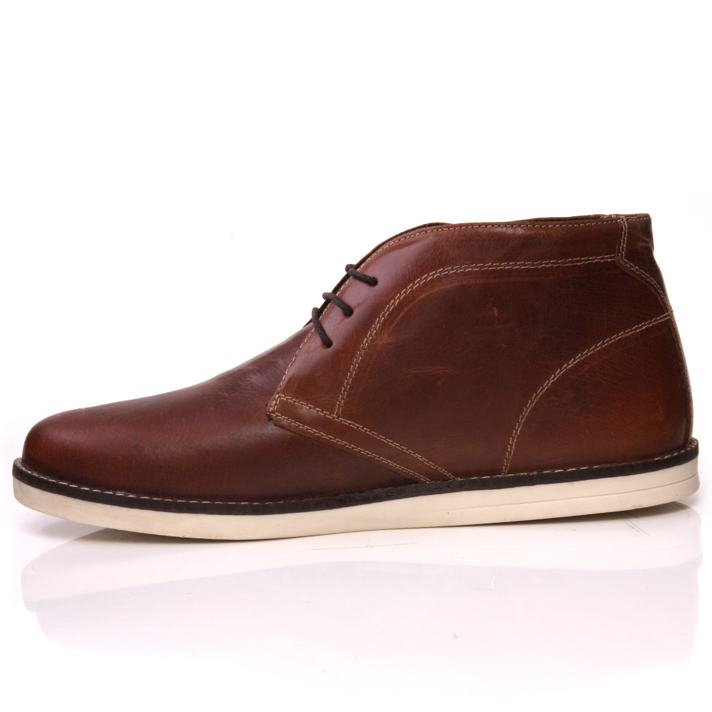 unze dara mens leather casual chukka lace up ankle boots