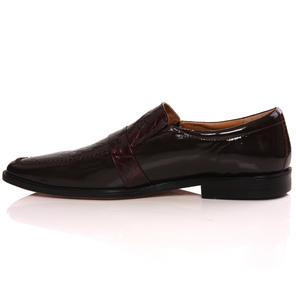 unze mens cree leather buckled dress formal shoes