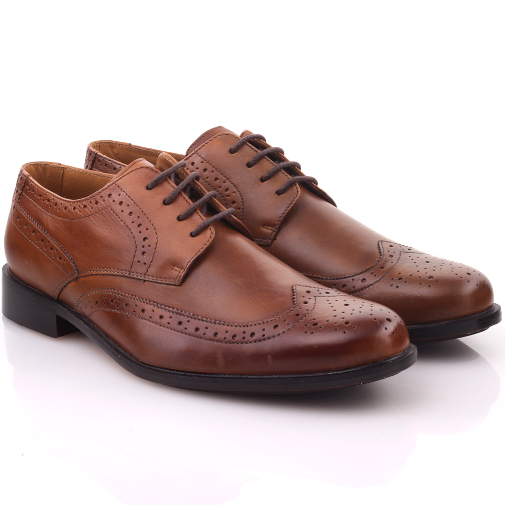 unze mens adama oxford laced up leather formal shoes uk