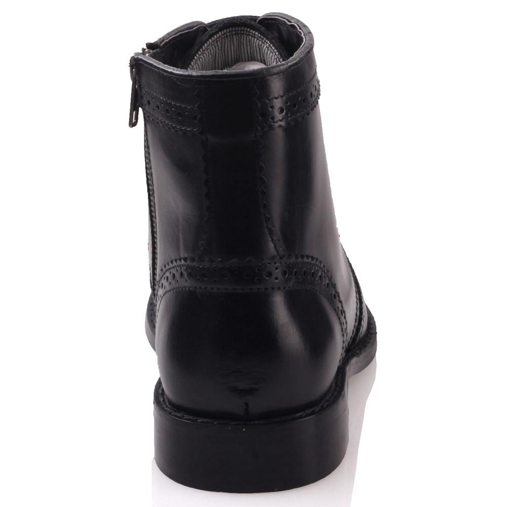 unze mens moeeb leather formal boots uk size 6 12 black ebay