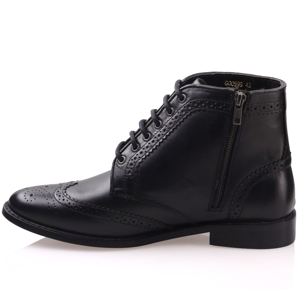 unze mens moeeb leather formal boots uk size 6 12 black ebay