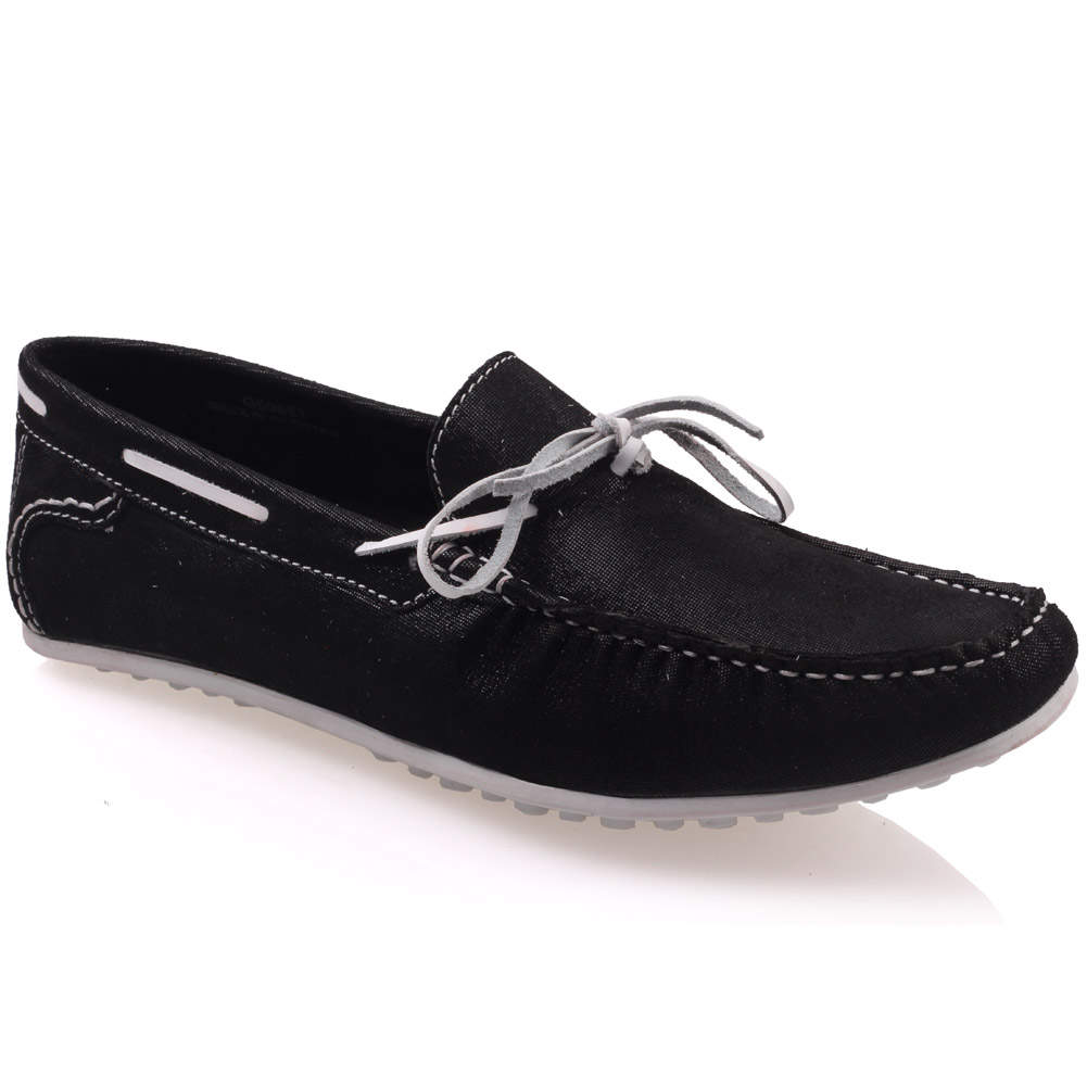 unze mens grisby leather moccasins shoes uk size 6 12