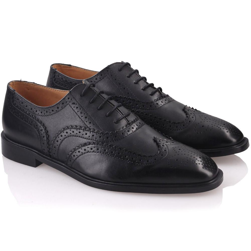 unze mens johanis laced up leather dress shoes uk size 7