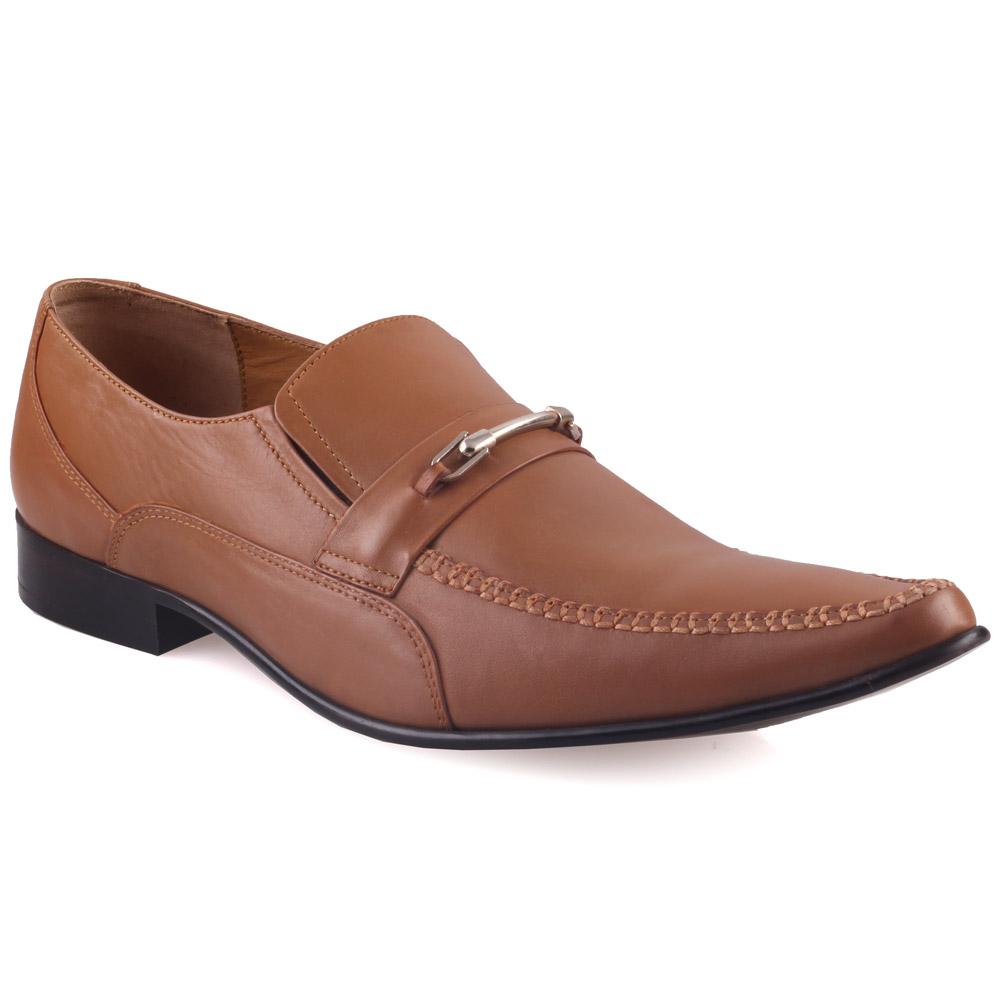 unze mens raves leather dress shoes uk size 6 12 brown ebay