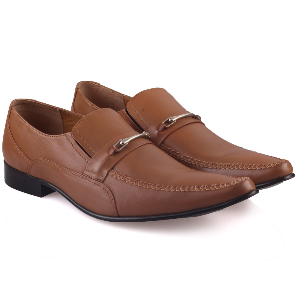 unze mens raves leather dress shoes uk size 6 12 brown ebay