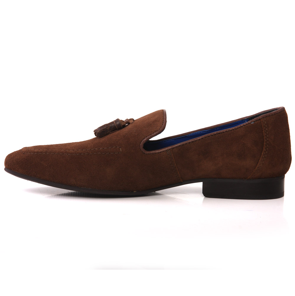 unze mens apsley suede leather loafers shoes uk size 7 11