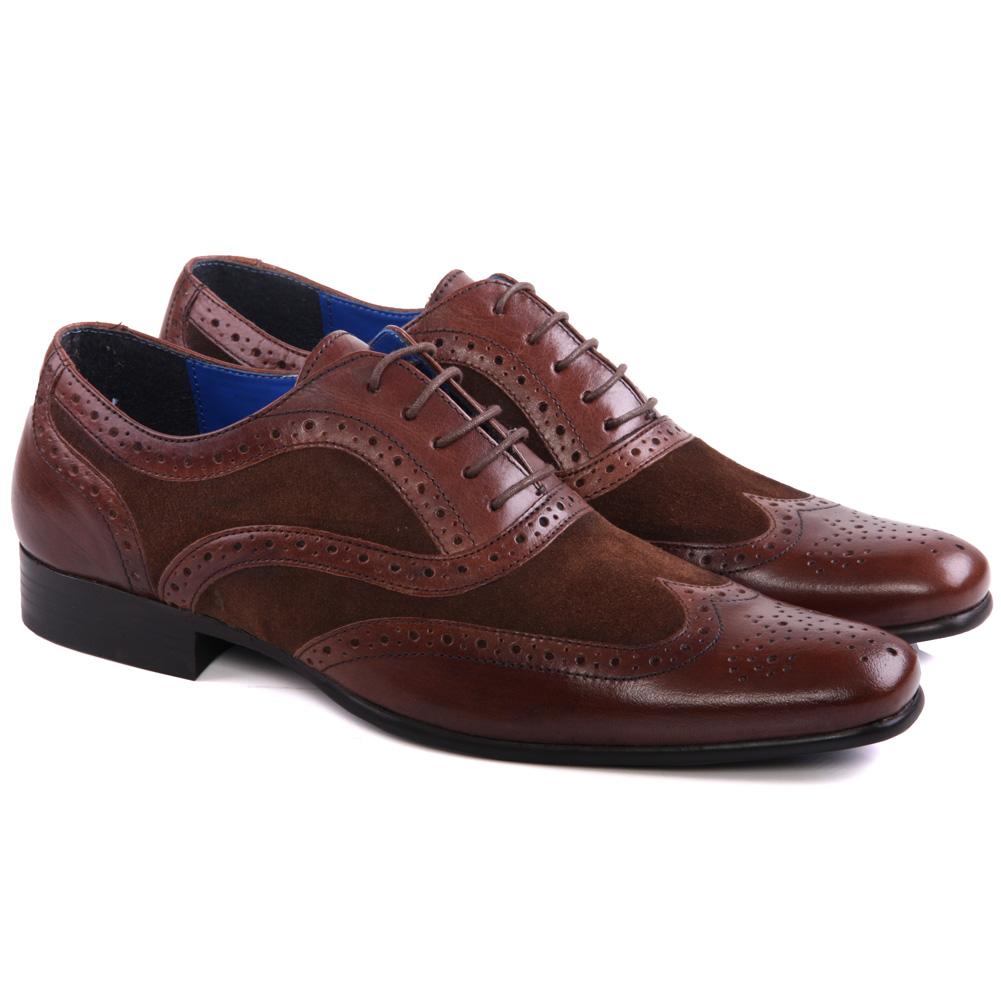 unze mens carn leather brogue dress shoes uk size 7 11