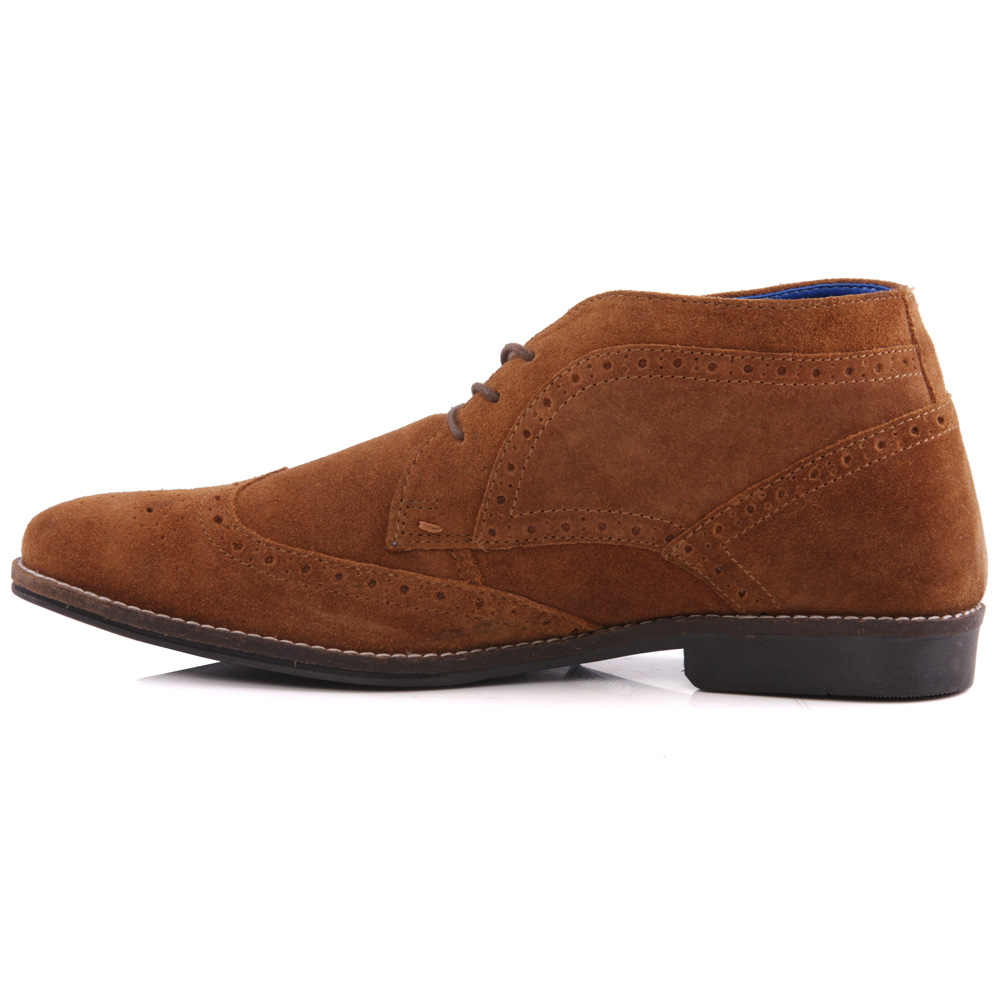 unze mens milton leather desert boots uk size 7 11 ebay