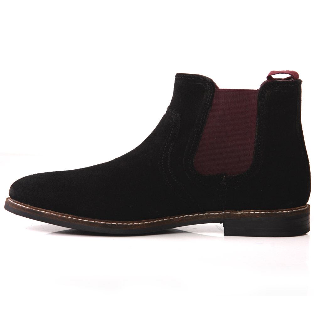 unze mens newton suede chelsea pull on boots uk size 7 11