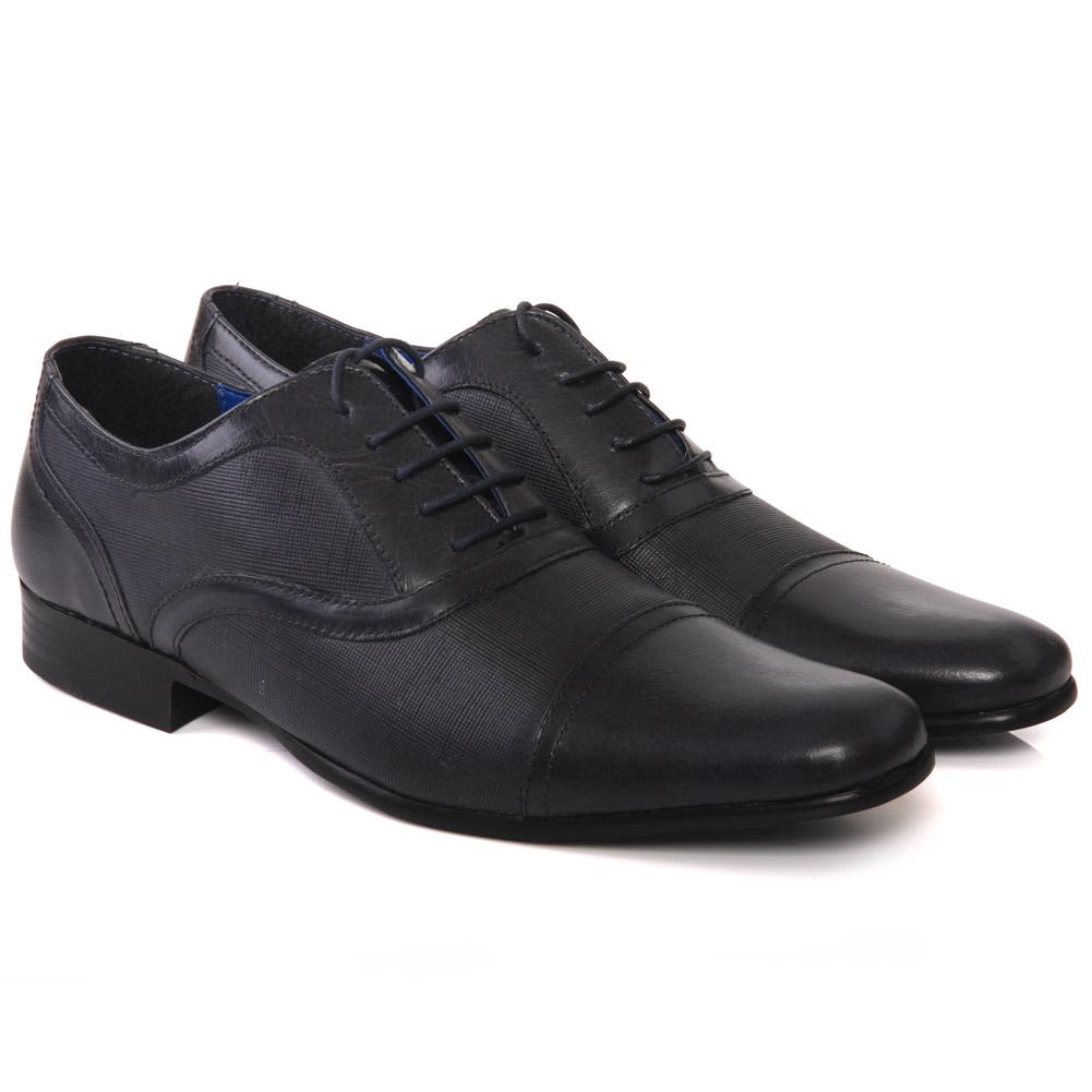 unze mens potton leather dress shoes uk size 7 11 blue ebay