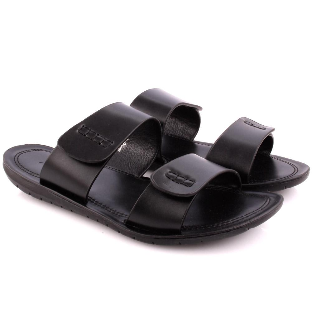 Unze la JULIO informal de Hombre Zapatillas Deslizante tamaño de Reino Unido 6-11 Negro