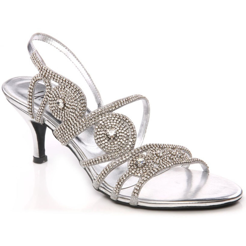 Ladies Silver Evening Shoes