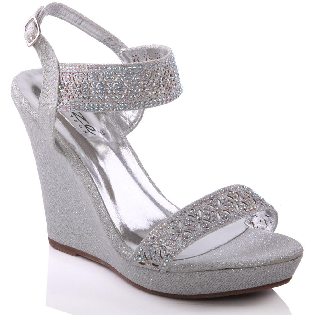 unze womens mergie wedge evening sandals uk size 3 8