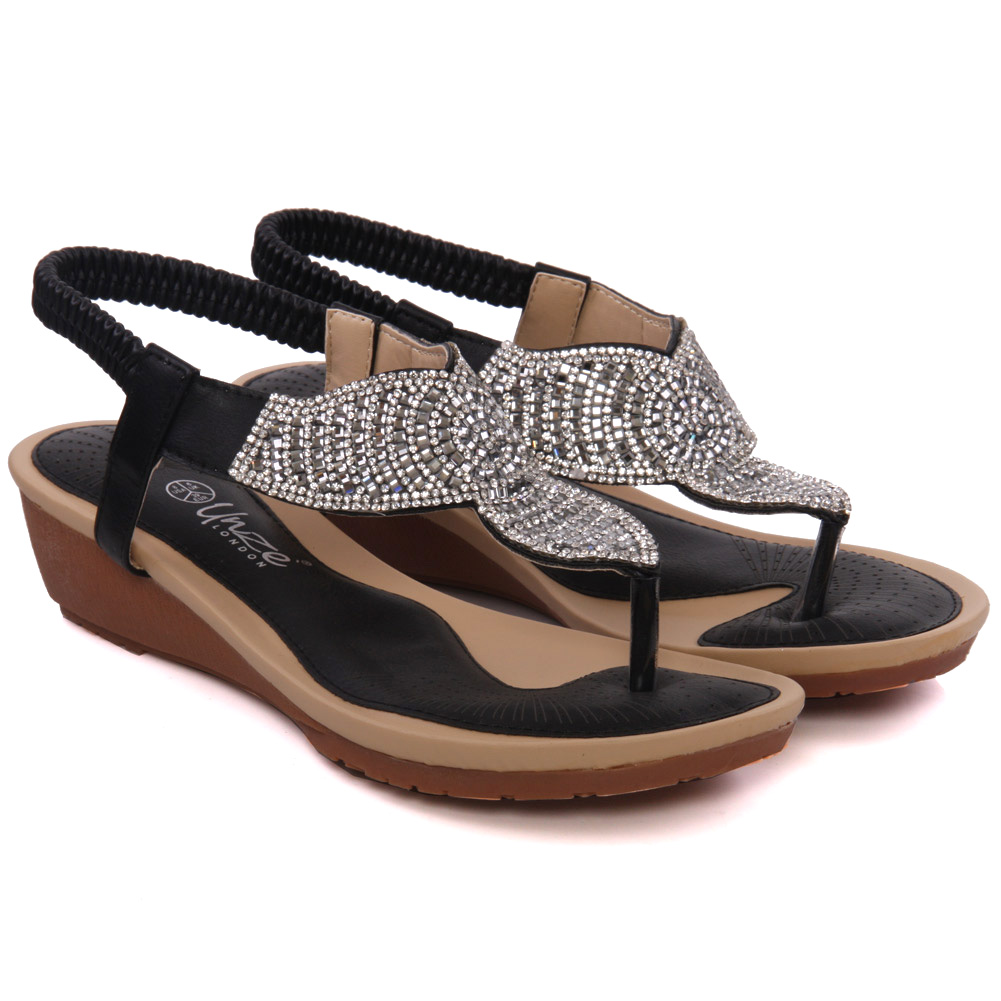 Lastest Womens Bonlivia Embellished Wedge Sandals