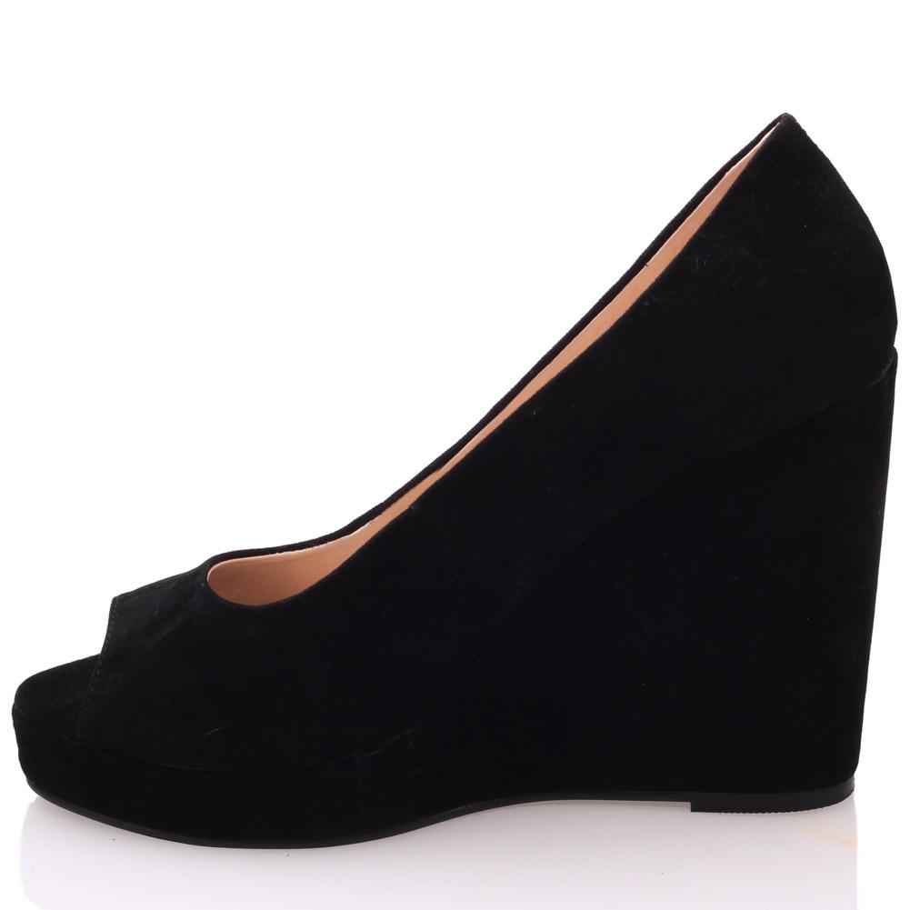 unze womens sassy leather wedge platform shoes uk size 3 8