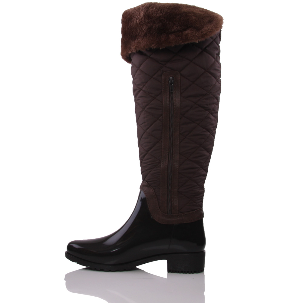 unze kirs womens knee high block heel winter boots size