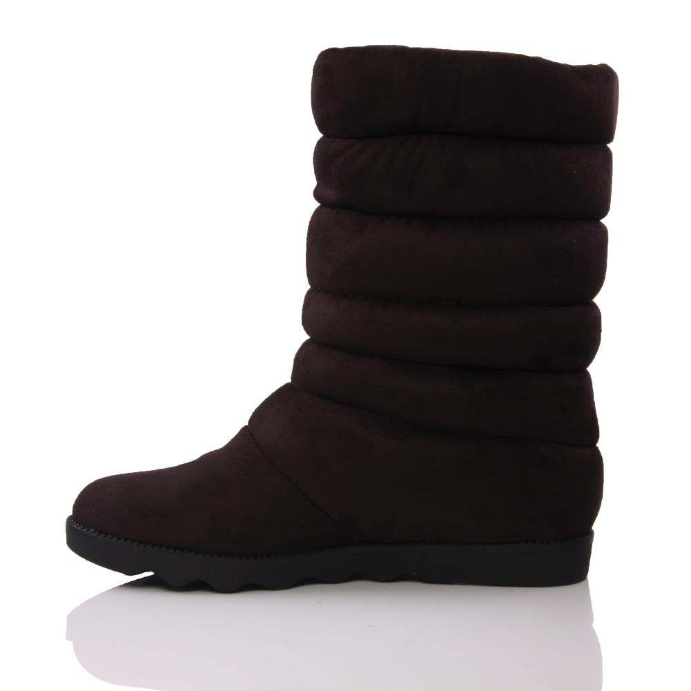 unze jayl womens suede fur inside flat ankle boots size
